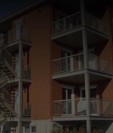 Rampe en aluminium balcons et patios en fibre de verre almax canada - Patio fibre de verre prix ...
